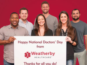 Weatherby Healthcare celebrates National Doctors' Day