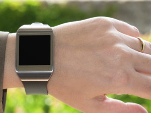 Smartwatch on the wrist