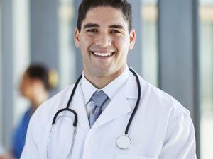 male medical doctor portrait in hospital