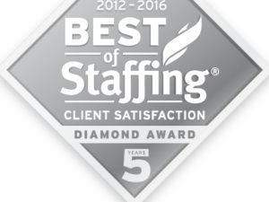 Best of Staffing diamond award
