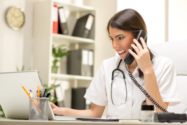 locum tenens close to home - image of female physician updating her work schedule