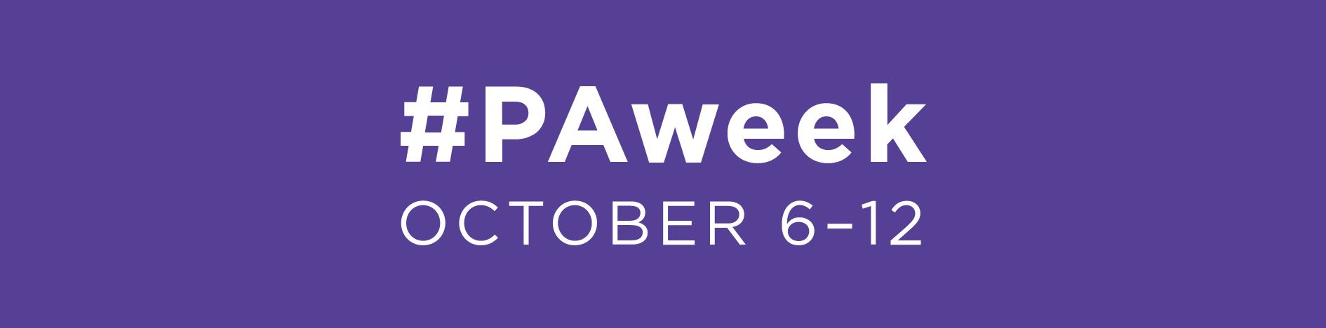 national pa week 2017 - image of national PA week hashtag