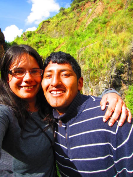 Weatherby Healthcare - locum tenens for moms - image of locums provider Dr. Simran Kalra in Peru with her husband Wilian