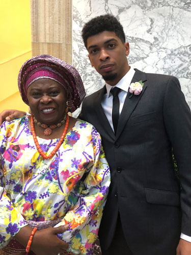 2018 Difference Maker Dr. Olabisi Jagun and son