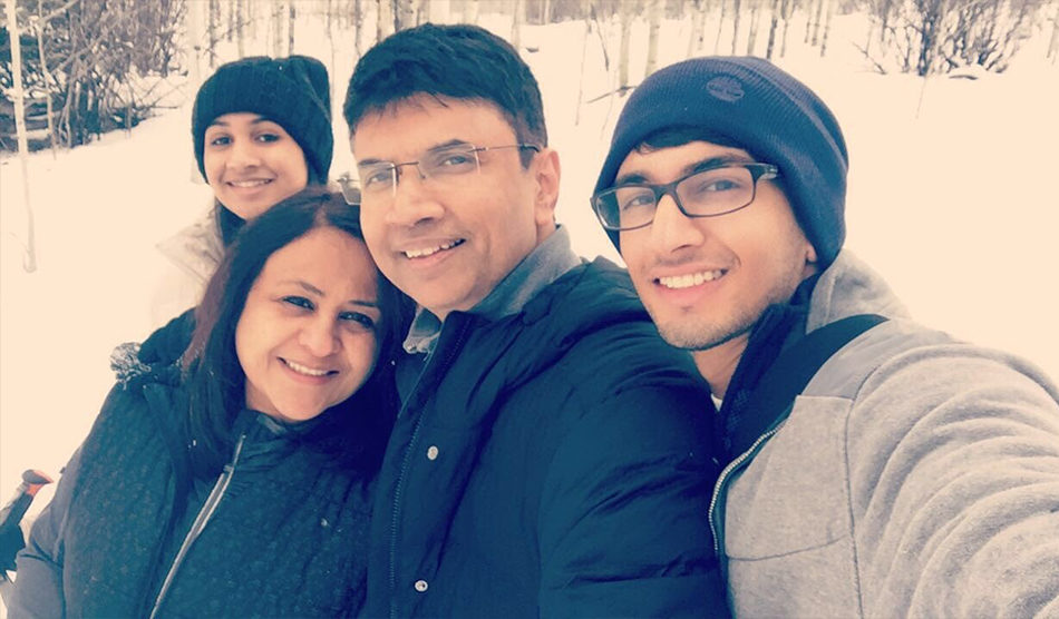 Dr. Bhadriraju and family on assignment