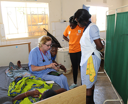 Dr. Linda Holt and patients