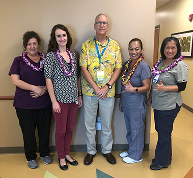 Dr. Jeffrey Frye and hospital staffers in Kona Hawaii