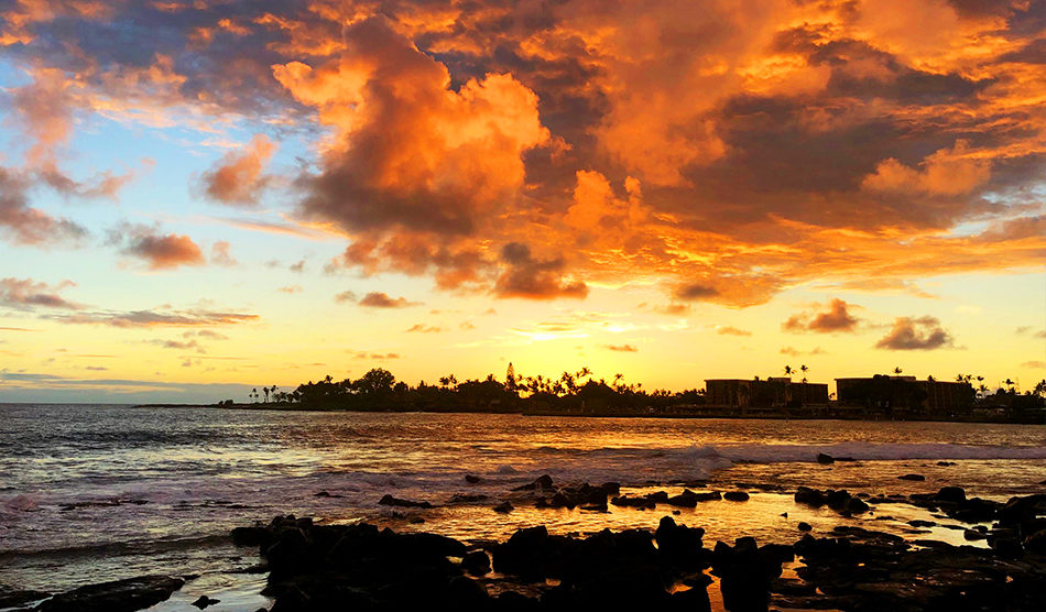 Hawaii Big Island Sunset - Locum tenens in Hawaii