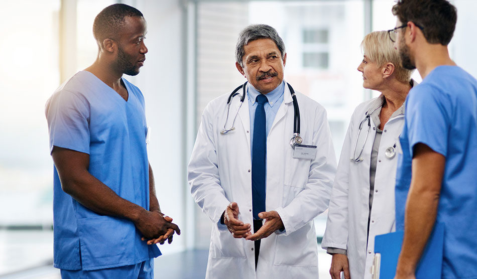 Several doctors in discussion