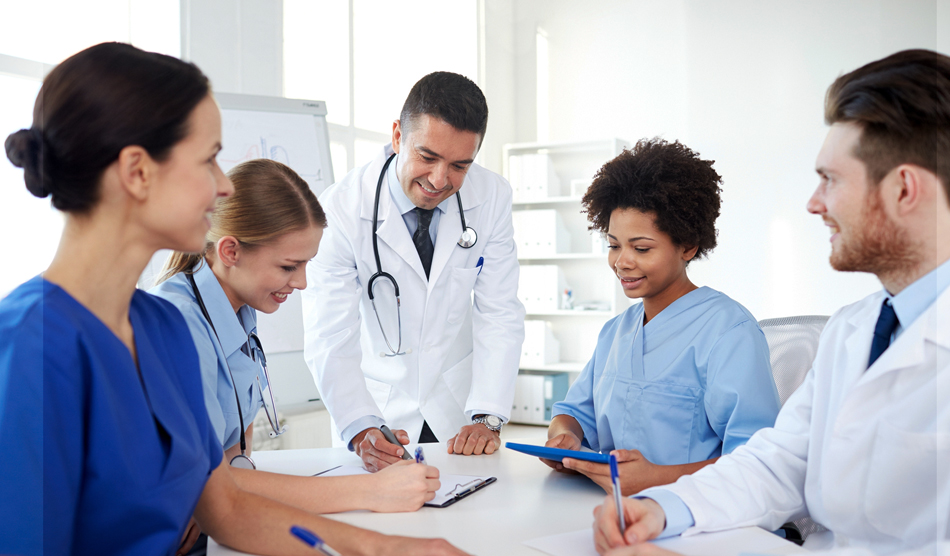 Physicians building a good professional relationship