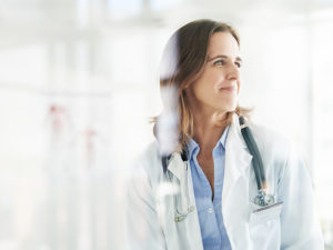 Female doctor who works for top locum tenens companies