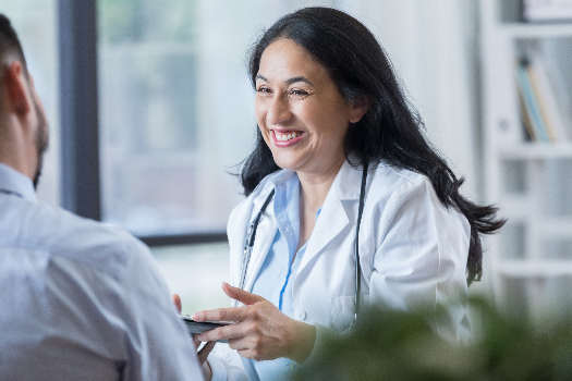A mid adult female doctor