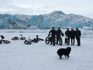 Locum tenens in Alaska - physician and friends mountain biking