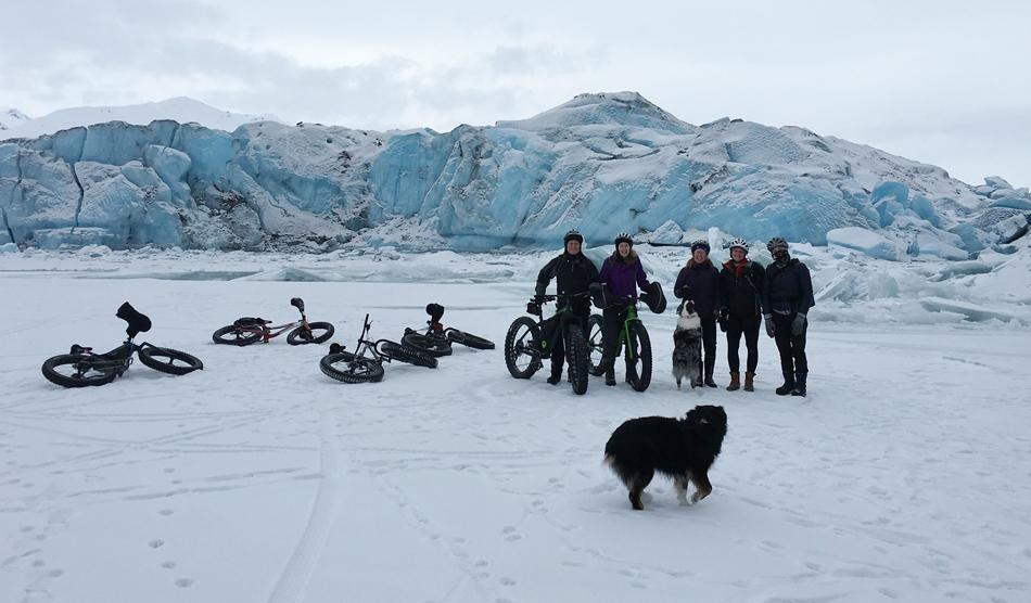 Locum tenens in Alaska - physician and friends mountain biking