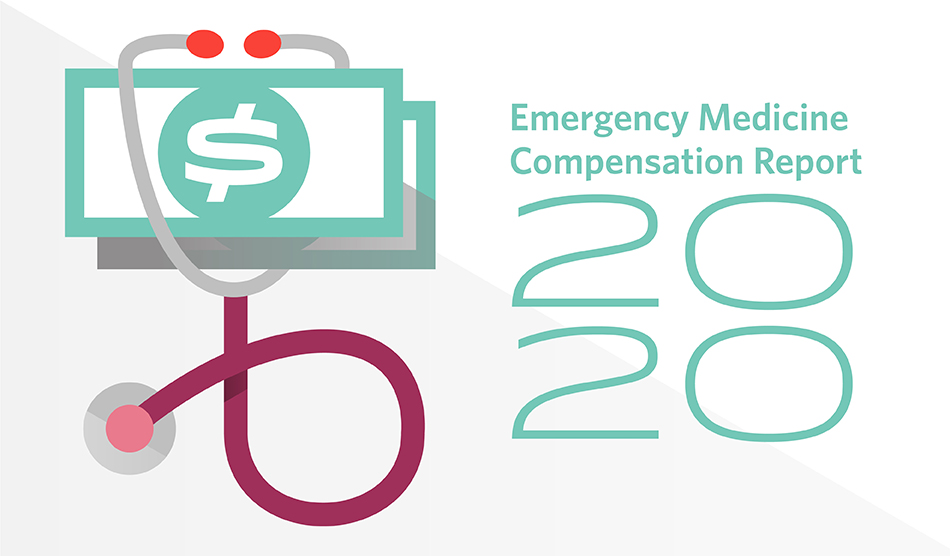 Graphic for 2020 emergency medicine salary report