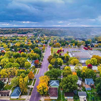 New Ulm, MN aerial view