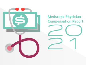 graphic of physician salary report 2021