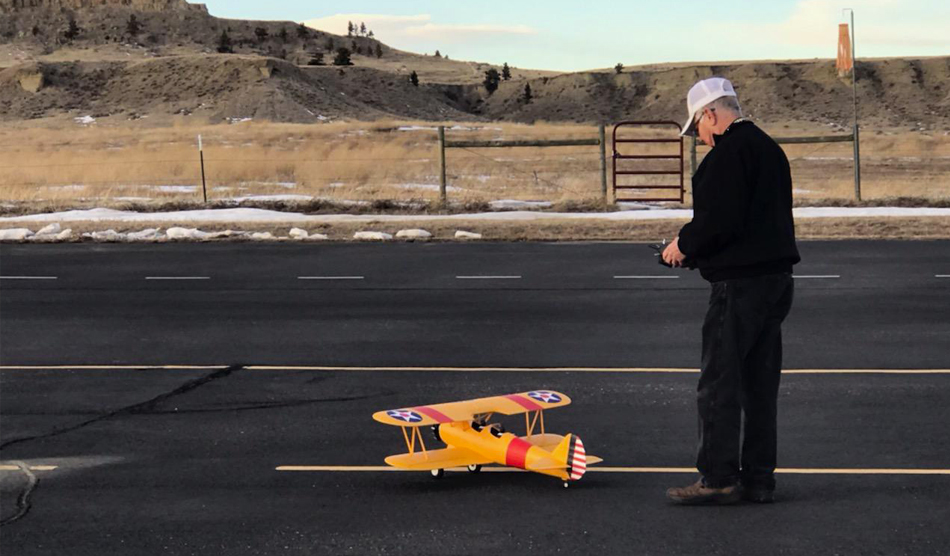 locum tenens rheumatologist enjoying an RC model airplane
